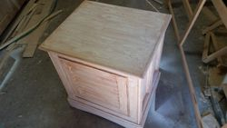 driftwood  finish nightstand/end table