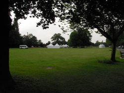 Four marquees in Ray Park for Festival in the Park 2010