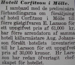 Hotell Corfitzon 1912