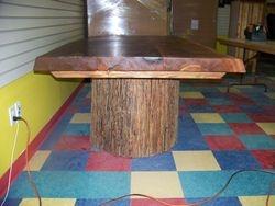 "7'X3.5"" cedar table"