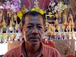 Man in his shrine