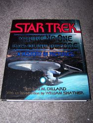 Star Trek - Where no one has gone before. Large Hardcover Book.