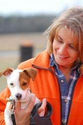Barbara and her puppy Derringer