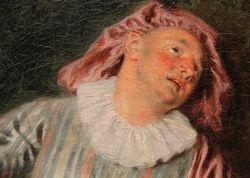 Watteau, Mezzetin, Met, detail