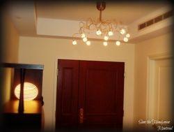 spot light Chandelier installation