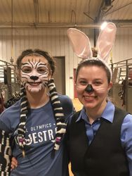 Dakota and Remi, in costume
