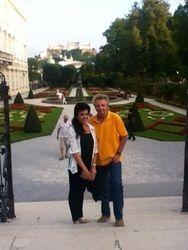Cristina und Alexis Hauser in Salzburg, Mirabel Garten, 2012