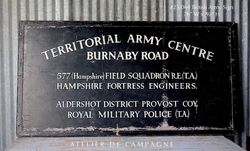 #26/048 BRITISH ARMY SIGN