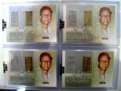 Stan Musial 2007 Sportkings Game Used Bat Barrel and Jersey Swatch Card