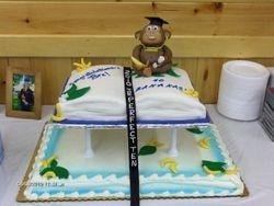 Book cake added to sheet cake