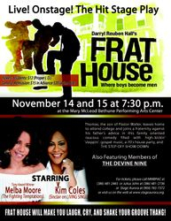 Flyer featuring Kim Coles and Melba Moore.