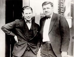 Babe Ruth and Charley Paddock