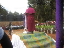 Bishop Mdegella addresses the audience