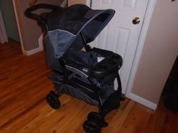 Chicco Cortina Magic Stroller- Black and Grey - $80