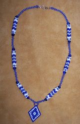 Tubular Peyote & Right Angle Weave sections with Brick Stitch Pendant