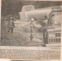 Tanker Accident on Clinch Mountain