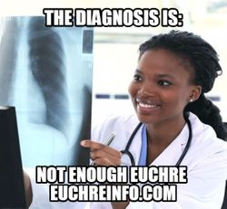 The diagnosis is:  not enough Euchre.