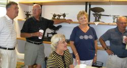 Dick DeLor ('60), Rich Lewis ('58), Joyce Zeha Spurling,  Lois Appleton Lewis ('60), Tom Bothwell