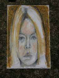 self portrait, distorted, 2005