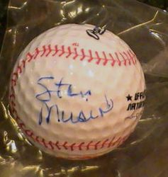 Stan Musial Certified Autograph St. Louis Cardinals Golf Ball JSA