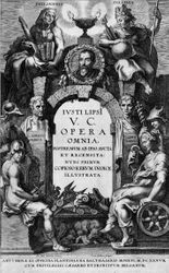 Rubens, Title page to Complete Works of Justus Lipsius, Antwerp, c. 1637