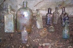 Assorted privy bottles.