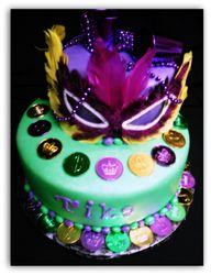 Mardi Gra Cake
