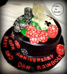 Anniversay Casino Cake