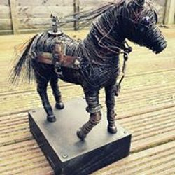 Other side steampunk horse statue