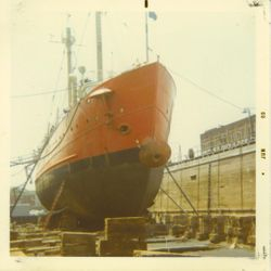 The ship In Drydock