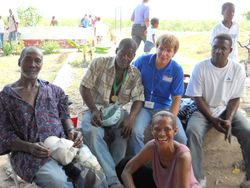 Steven and some of the men of Barbaras Village and Kathleen