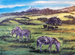 Hearst Castle Ranch Zebras