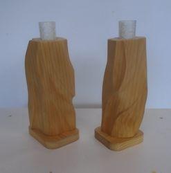 """Sculptured candle sticks: 3"""" x 3"""" x 10""""high  $25.00 pair"""