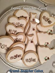 Mr. & Mrs. sugar cookies