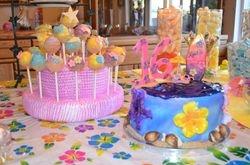 Hawaiian 16th Birthday Cake and Cake Pops
