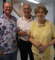 Jerry Sumner, Jay Feasel ('60), Leanne Franzen Feasel