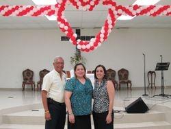 Edwin Flores, Griselle Jovet y Dalia Feliciano