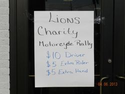 Lions Charity Motorcycle Rally