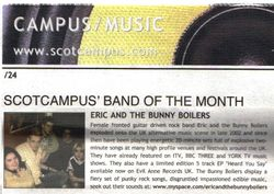 SCOTCAMPUS BAND OF THE MONTH: