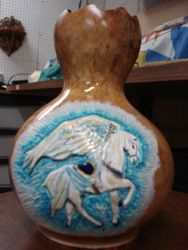 Angel Horse-gourd vase