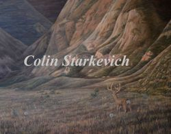 "The Coulees of Jenner (24 by 30"" oil on canvas) In Private Collection"