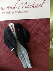 Wedding Outfit Invite Close up