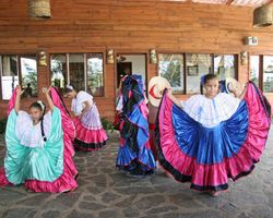 School folk dance demonstration