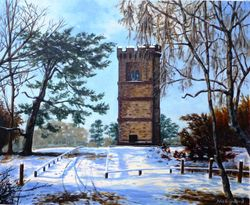 Leith Hill Tower in winter