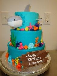 3 tiered shark cake $350