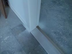 (Spraying Lacquer ) Interior doors and trim .