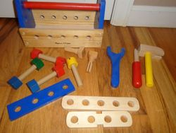 Melissa & Doug Wooden Deluxe Take Along Tool Kit - $10