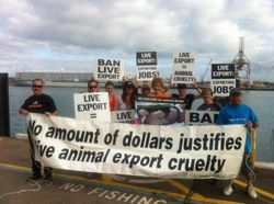 Protest against the Live Export trade at Fremantle