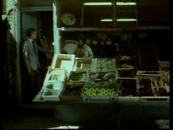 Greengrocer's shop, Argyle walk 1983
