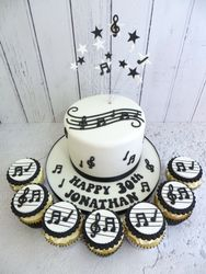 30th Birthday Musical Note Birthday Cake